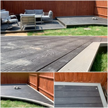 40sqm bespoke composite decking design with smart control lighting