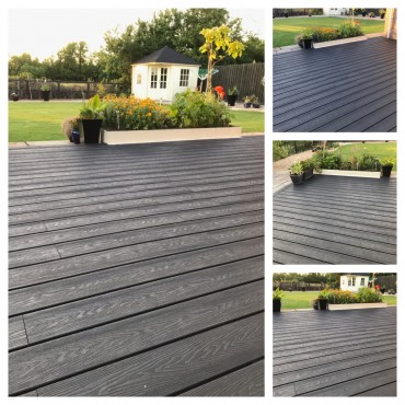 40 square meters of a nice charcoal decking in Longstanton