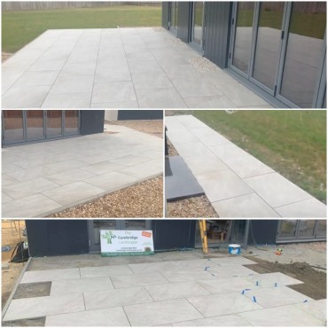 Porcelain 65sqm with complex angles and falls