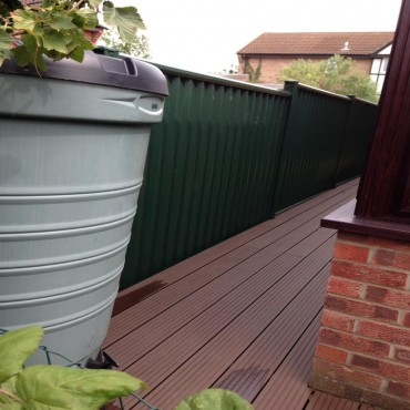 Composite decking full around the house