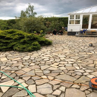 Crazy paving - June 2019
