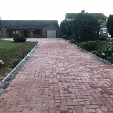 155 sqm Driveway in the Fens January 2018