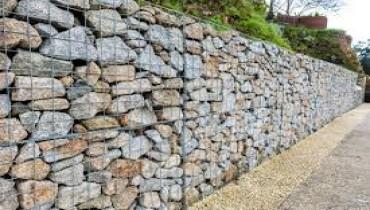 Gabion walling